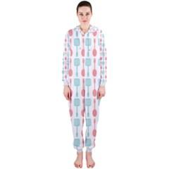 Spatula Spoon Pattern Hooded Jumpsuit (Ladies)