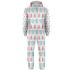 Spatula Spoon Pattern Hooded Jumpsuit (Men)