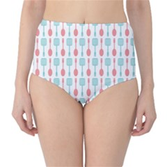 Spatula Spoon Pattern High-Waist Bikini Bottoms
