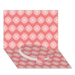 Abstract Knot Geometric Tile Pattern Circle Bottom 3D Greeting Card (7x5)