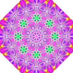 Kaleido Art, Pink Fractal Golf Umbrellas