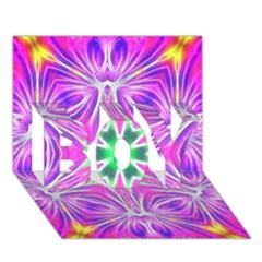 Kaleido Art, Pink Fractal Boy 3d Greeting Card (7x5)