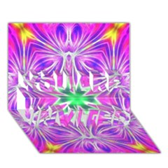 Kaleido Art, Pink Fractal YOU ARE INVITED 3D Greeting Card (7x5)