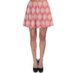 Abstract Knot Geometric Tile Pattern Skater Skirts