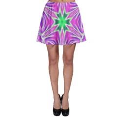 Kaleido Art, Pink Fractal Skater Skirts