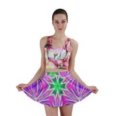 Kaleido Art, Pink Fractal Mini Skirts