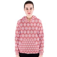Abstract Knot Geometric Tile Pattern Women s Zipper Hoodies
