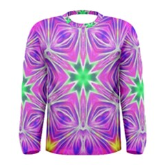 Kaleido Art, Pink Fractal Men s Long Sleeve T-shirts
