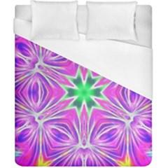 Kaleido Art, Pink Fractal Duvet Cover Single Side (double Size)
