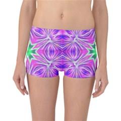 Kaleido Art, Pink Fractal Reversible Boyleg Bikini Bottoms