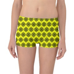 Abstract Knot Geometric Tile Pattern Boyleg Bikini Bottoms