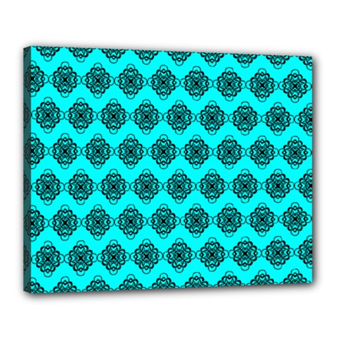 Abstract Knot Geometric Tile Pattern Canvas 20  X 16