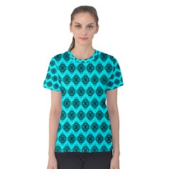 Abstract Knot Geometric Tile Pattern Women s Cotton Tees