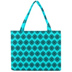 Abstract Knot Geometric Tile Pattern Tiny Tote Bags
