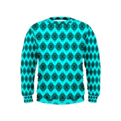 Abstract Knot Geometric Tile Pattern Boys  Sweatshirts