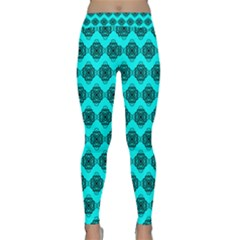 Abstract Knot Geometric Tile Pattern Yoga Leggings