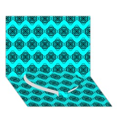 Abstract Knot Geometric Tile Pattern Heart Bottom 3D Greeting Card (7x5)