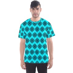 Abstract Knot Geometric Tile Pattern Men s Sport Mesh Tees