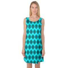 Abstract Knot Geometric Tile Pattern Sleeveless Satin Nightdresses