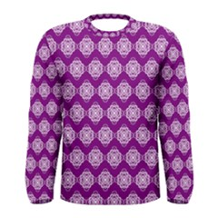 Abstract Knot Geometric Tile Pattern Men s Long Sleeve T-shirts