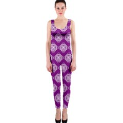 Abstract Knot Geometric Tile Pattern OnePiece Catsuits