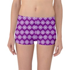 Abstract Knot Geometric Tile Pattern Reversible Boyleg Bikini Bottoms