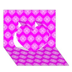 Abstract Knot Geometric Tile Pattern Heart 3d Greeting Card (7x5)