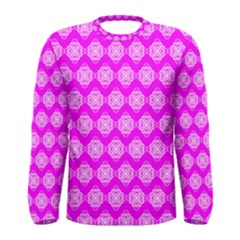 Abstract Knot Geometric Tile Pattern Men s Long Sleeve T Shirts