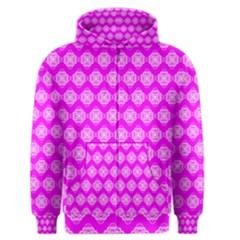 Abstract Knot Geometric Tile Pattern Men s Zipper Hoodies