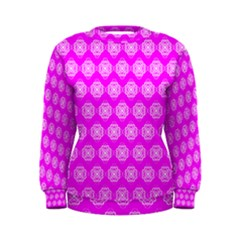 Abstract Knot Geometric Tile Pattern Women s Sweatshirts