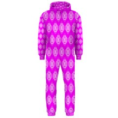 Abstract Knot Geometric Tile Pattern Hooded Jumpsuit (Men)
