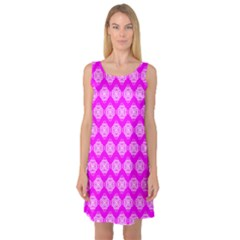 Abstract Knot Geometric Tile Pattern Sleeveless Satin Nightdresses