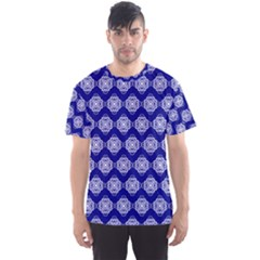 Abstract Knot Geometric Tile Pattern Men s Sport Mesh Tees