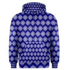 Abstract Knot Geometric Tile Pattern Men s Zipper Hoodies