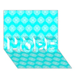 Abstract Knot Geometric Tile Pattern HOPE 3D Greeting Card (7x5)