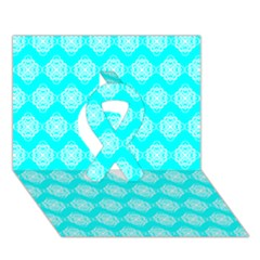 Abstract Knot Geometric Tile Pattern Ribbon 3D Greeting Card (7x5)