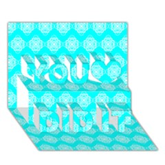 Abstract Knot Geometric Tile Pattern You Did It 3d Greeting Card (7x5)