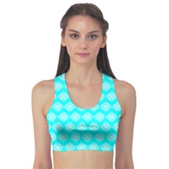 Abstract Knot Geometric Tile Pattern Sports Bra