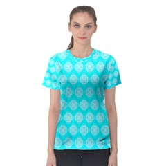 Abstract Knot Geometric Tile Pattern Women s Sport Mesh Tees
