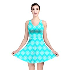 Abstract Knot Geometric Tile Pattern Reversible Skater Dresses