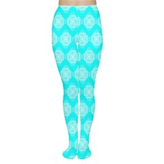 Abstract Knot Geometric Tile Pattern Women s Tights