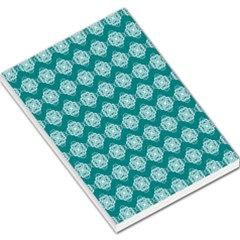 Abstract Knot Geometric Tile Pattern Large Memo Pads