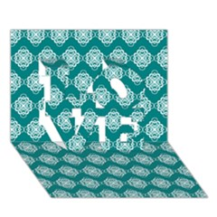 Abstract Knot Geometric Tile Pattern LOVE 3D Greeting Card (7x5)