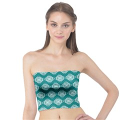 Abstract Knot Geometric Tile Pattern Women s Tube Tops