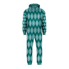 Abstract Knot Geometric Tile Pattern Hooded Jumpsuit (Kids)
