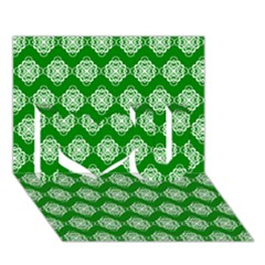 Abstract Knot Geometric Tile Pattern I Love You 3d Greeting Card (7x5)