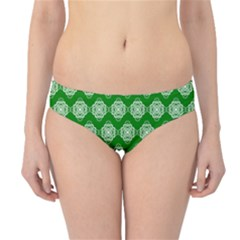 Abstract Knot Geometric Tile Pattern Hipster Bikini Bottoms