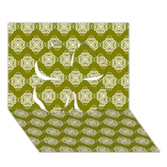 Abstract Knot Geometric Tile Pattern Clover 3D Greeting Card (7x5)