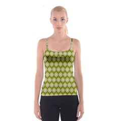 Abstract Knot Geometric Tile Pattern Spaghetti Strap Tops