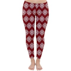 Abstract Knot Geometric Tile Pattern Winter Leggings